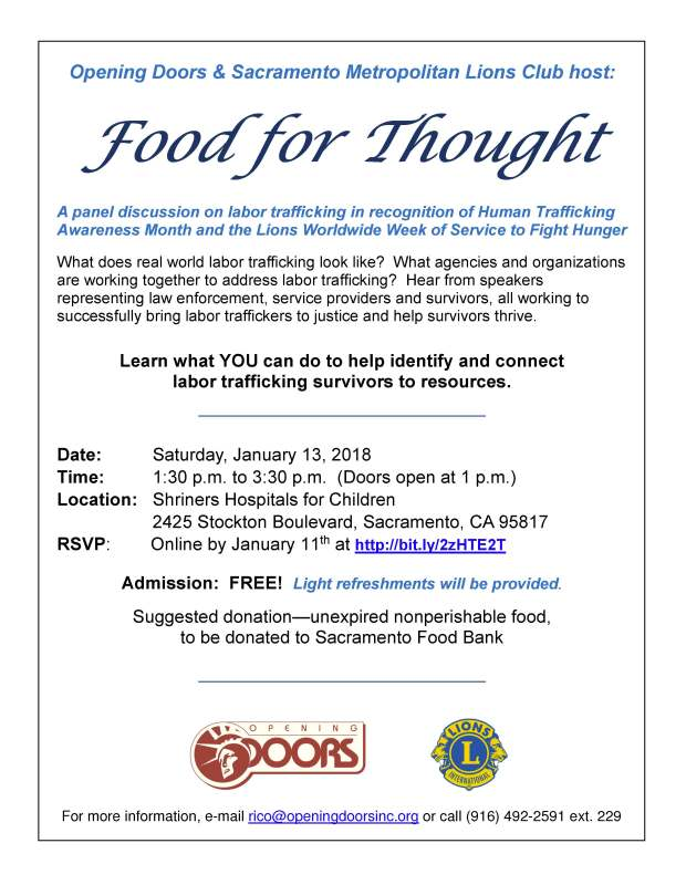 Food for Thought 2018 Flyer
